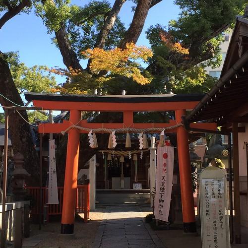色づく神社
