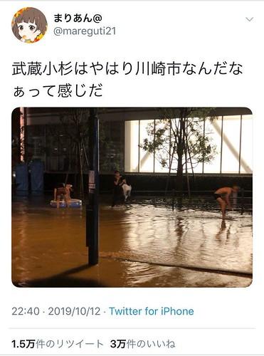 武蔵小杉うんこタワー 台風19号の影響で下水処理能力パンクした川崎・武蔵小杉がウンコまみれに!タワマンは電気とトイレ使用不可