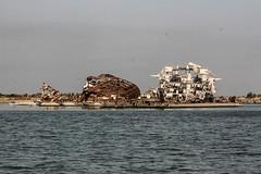 Shipwreck, Shatt Al-Arab Waterway, Iraq