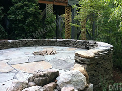 WM Dale Mitchell Landscape 1, Fire pit, Flat work, Retaining wall, dry laid stone construction, copyright 2014