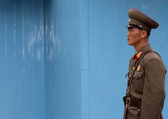 SOLDAT NORD COREEN A LA DMZ, COREE DU NORD (Eric Lafforgue Photography) Tags: voyage travel portrait color colour horizontal army clothing war uniform asia peace military soldiers asie 2008 couleur dmz adultsonly frontier militaire oneperson coldwar 38 northkorea armee uniforme ideology axisofevil panmunjom eastasia dprk frontiere juche kmz coleur northkorean dictature 38thparallel democraticpeoplesrepublicofkorea koreanpeninsula gardeavous unepersonne juchesocialistrepublic coreedunord rdpc insidenorthkorea northkoreanarmy armeenordcoreenne demilitarise 38emeparallele nordcoreen hommenordkoreen northkoreanman