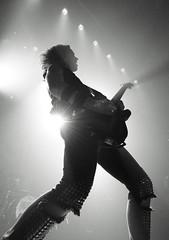 Halestorm (Brian Krijgsman) Tags: blackandwhite bw music film amsterdam rock metal photography concert nikon european tour photos live grain band zwart wit melkweg 2014 halestorm d4 themax lzzyhale iso12800 briankrijgsman