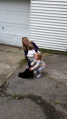 Marcy meets kids (ddsiple) Tags: kids cat marcy greeting
