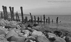 Porlock Weir (justyourcofchi) Tags: sea england blackandwhite bw beach water coast shore lanscape monocrome porlockweir sommerset chiarnold justyourcupofchi