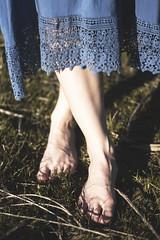 IMG_9566 (aishejonelle) Tags: blue trees portrait sky people green nature girl grass dress outdoor free preraphaelite