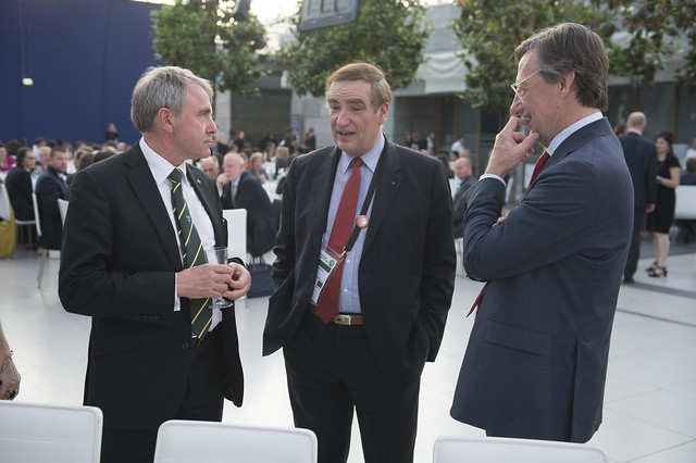 Robert Goodwill, Jean-Pierre Loubinoux and Alain Flausch attend the Gala Dinner