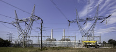 Munmorah Power Station Switchyard (on the water photography) Tags: station high power delta coal tension transmission fired munmorah