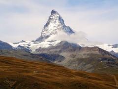The Almighty - Pyramid-shaped Matterhorn, Switzerland. (igrusan) Tags: mountain nature rock switzerland zermatt matterhorn wallis lanscape