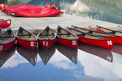 Canoe Rental at Lake Louise (mark willocks) Tags: lake mountains alberta rockymountains lakelouise banffnationalpark redcanoes