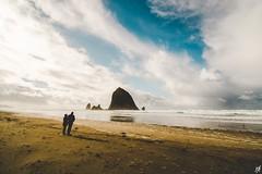 Cannon Beach (Tim Kolczak) Tags: ocean life travel blue portrait sky people brown colors landscape sand nikon pacific wanderlust tokina relationships pnw tokina1116mm nikond7100
