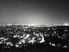 Luci notturne (lucapando) Tags: panorama monocromo luci mura notte cittaalta scieluminose