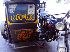 tricycle that says Gift of God-2 (_gem_) Tags: street city urban sign religious typography words god tricycle text philippines transportation signage manila type vehicle metromanila