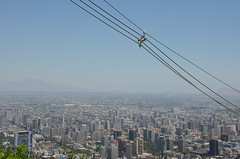 electric wires and the city (Hayashina) Tags: chile city santiago southamerica wire view htt