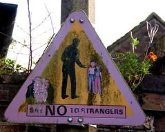 Stranger Danger (Cornish Cactus) Tags: old sign danger warning children weird child shropshire stickman creepy odd weathered bridgnorth strangerdanger sayno