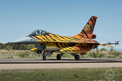 """ Pride Of 31 Squadron"" (SJAviation.net) Tags: spain nikon aviation military zaragoza tigers airforce viper nato fightingfalcon belgianairforce aviationphotography f16am nikonaviation sjaviationnet tigermeet2016"