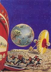 Robert Lesser / Pulp Art / Bild10 (micky the pixel) Tags: sf art illustration painting buch book earth kunst raumschiff planet scifi sciencefiction spaceship pulp livre erde frankrpaul pulpart robertlesser fantasticadventures maroonedinandromeda