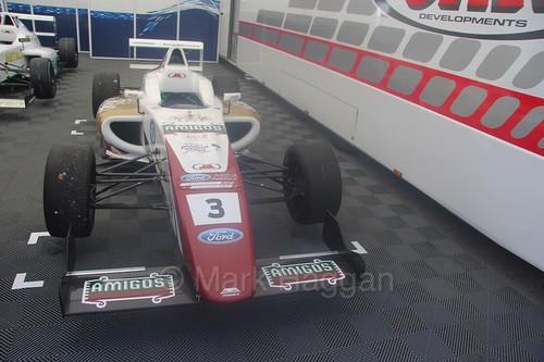Sennan Fielding's British Formula Four car at Oulton Park, June 2016