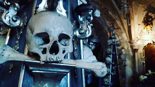 The Ossuary in Kutna Hora, Czech Republic is both creepy and beautiful at the same time. I'm super happy we made that little detour!  #AboutWings