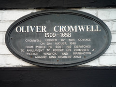 Photo of Oliver Cromwell black plaque