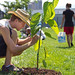 Planting trees as part of the Sustainable Food Initiative, Eastern Mennonite University.