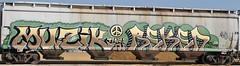 Muzik, Reken (nunya...nunyabusiness) Tags: music art train graffiti paint peace tracks note spraypaint graff muzik hopper musicnote reken