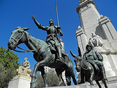 Don Quijote and Co. (Zvetkova) Tags: madrid city travel monument spain nikon donquijote migueldecervantes sanchopanza город улица путешествие испания мадрид