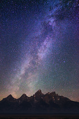 "Stars over Grand Teton Mountain Range (IronRodArt - Royce Bair (""Star Shooter"")) Tags: park sky mountain nature night dark way stars evening twilight shiny long exposure heaven glow shine nightscape time dusk infinity space deep peak grand twinkle astro sparkle galaxy national astrophotography astronomy teton universe exploration range milky cosmic starry cosmos astrology constellation distant milkyway starlight starrynightsky"
