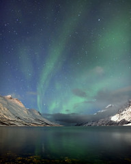 Norway Ersfjordbotn (peterspencer49) Tags: ocean winter sky moon mountain snow seascape norway reflections arctic aurora fjord oceanview northernlights seaview arcticcircle tromso troms nordlys winterview seascene ersfjordbotn aurorasborealis nikond3s stunningseascape peterspencer49