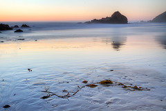Beached (abaranda) Tags: ocean california ca sunset beach northerncalifornia rock sand bigsur pacificocean portal montereycounty centralcoast pfeifferbeach usforestservice bigsurcoastline parksmanagementcompany