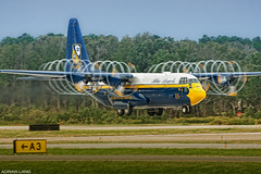Fat Albert Airlines (~Clubber~) Tags: airplane aircraft aviation navy airshow propeller blueangels takeoff usn hercules c130 oceana fatalbert