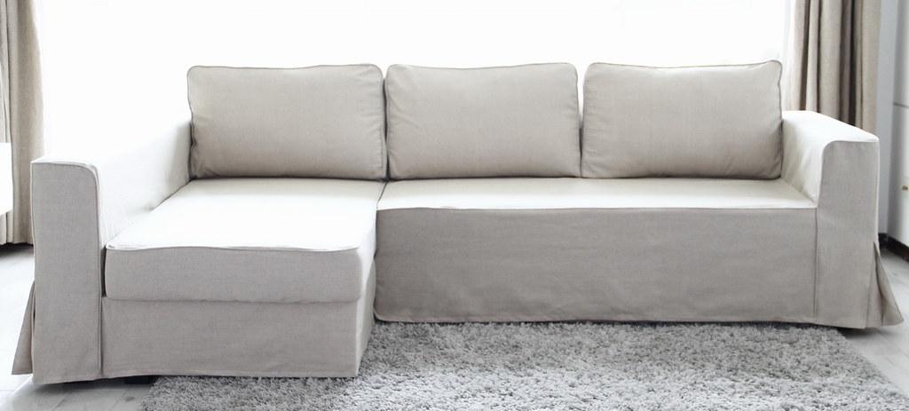 Ordinaire IKEA Manstad Sofa Bed Custom Linen Slipcover   Comfort Works (Comfort Works Custom  Sofa Cover