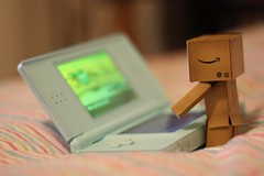 Week 23 - Gaming (Victoria. A) Tags: white cute toy dof ds gaming danny pokemon week23 danbo 52weeks revoltech danboard canoneos1000d victoriaarmstrong