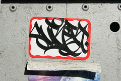 Sure (carnagenyc) Tags: nyc newyork graffiti sticker rip sure atm surer