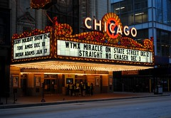 Miracle on State Street. Chicago Theatre (Cragin Spring) Tags: old city urban chicago history marquee lights illinois midwest downtown bright theatre loop il movies concerts toriamos chicagoloop statestreet downtownchicago chicagoillinois bryanadams chicagoil chicagotheatre wxrt chicagodowntown moviepalaces wtmx