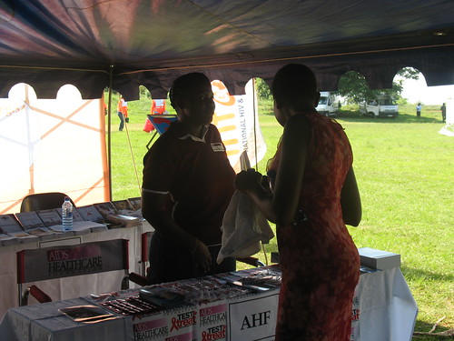 People getting more info from the AHF stand