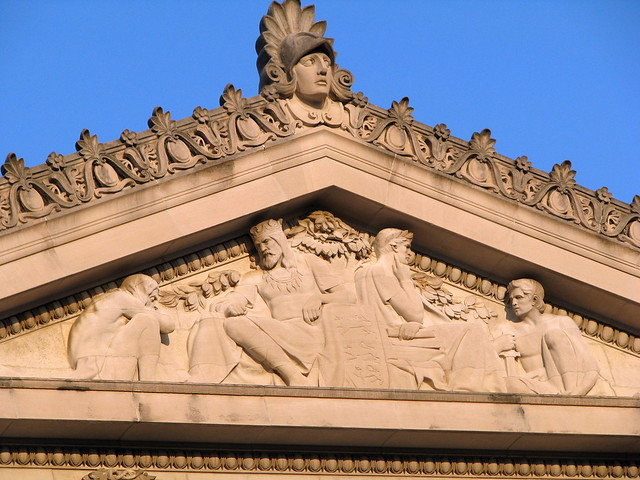 Shelby County Courthouse Pediment Carving 2 - Memphis, TN