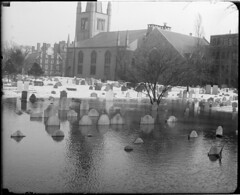 Cambridge Cemetery under water (Boston Public Library) Tags: weather storms floods lesliejones