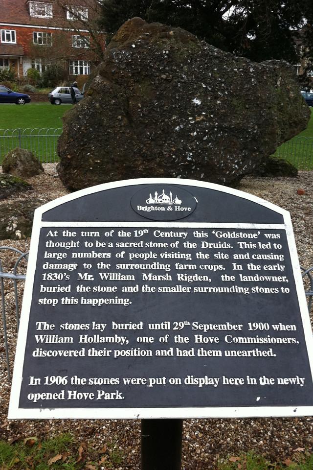 Photo of William Marsh Rigden, William Hollamby, and The Goldstone black plaque