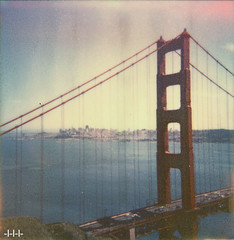 SF trapped under Golden Gate (steven -l-l-l- monteau) Tags: sf sanfrancisco california road trip bridge usa color film skyline analog polaroid golden bay gate downtown suspension spirit tip shade 600 area pont instant steven norcal suspended northern straits 70 californie ip baie lll ocan px instantan suspendu monteau dtroit impossibleproject px70colorshade twoandahalfweeksonthewestcoastoftheunitedstatesofamerica