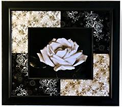 A Joint Effort (Darrell Wyatt) Tags: rose sepia pattern quilt framed material