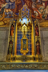 Altar Inside Grace Cathedral San Francisco - HDR (David Gn Photography) Tags: sf sanfrancisco california ca church religious mural raw cross icon altar holy christianity stmary hdr episcopal nobhill gracecathedral 3exposure canoneos60d sigma1020mmf35exdchsm sigma50th
