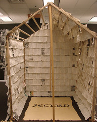 Pitys Reconstructs the Word (north paginated structure) (Edith Abeyta) Tags: structure installation encyclopedia fecund
