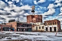 the end of a landmark (Matthew P Sharp) Tags: city urban construction edmonton decay urbandecay canadian alberta hdr molson molsoncanadian