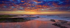 Colourful Mona Vale (Adam Resch85) Tags: ocean light sea seascape colour reflection beach rock sunrise landscape rocks sydney australia mona vale nsw colourful northernbeaches