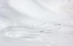 Auguilles du Midi, Mont Blanc Glacier and Walkers, Chamonix (Jim_Higham) Tags: summer snow france alps ice french europe altitude eu glacier alpine ropes chamonix walkers mont blanc climbers roped