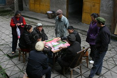 Game (Frhtau) Tags: china red people game buildings book republic village little market peoples revolution mao products farmer sell province   schun  shng sicchuan