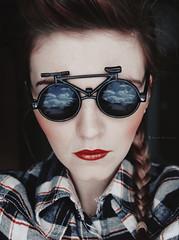 let's bike it (basistka) Tags: red woman bike glasses poland lips basistka leśniańska