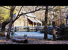 John Oliver's Homestead ~ Cades Cove, Tennessee (tammy_grooms) Tags: fence tennessee logcabin homestead smokymountains cadescove johnoliver canonrebelxs tammygrooms