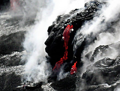 Kilauea Lava Flow (Hawaiian Sea) Tags: lava redhot kilauea blacksandbeach hawaiiansea