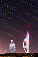 31 Minutes (AndWhyNot) Tags: uk longexposure blur clock night stars portsmouth spinnakertower startrails lightpollution stargazing anglicancathedral urbanstartrail urbanstartrails